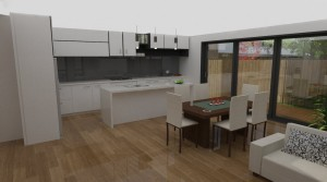 Kitchen Unit 1 with open area